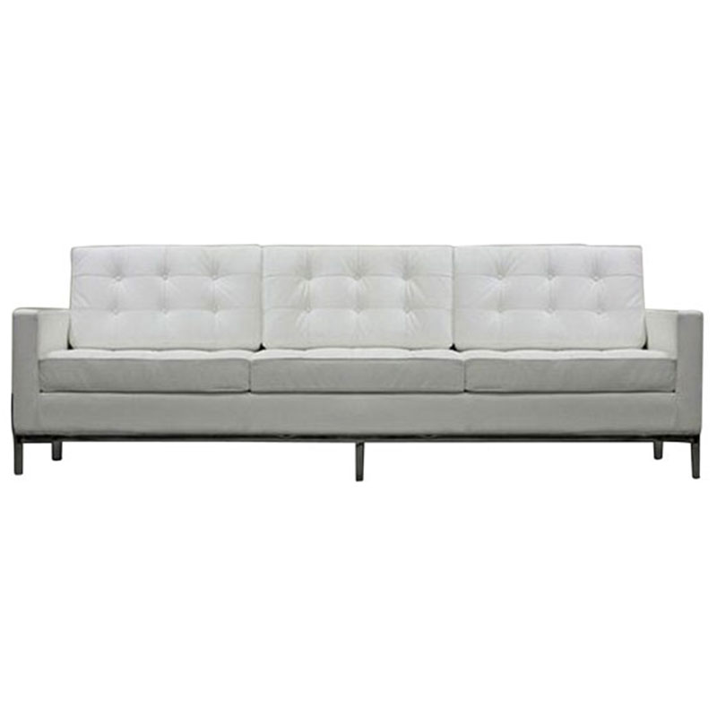 studio leather sofa in white