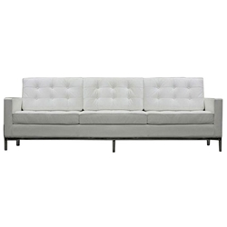 Modern Sofas - Studio Leather Sofa in White