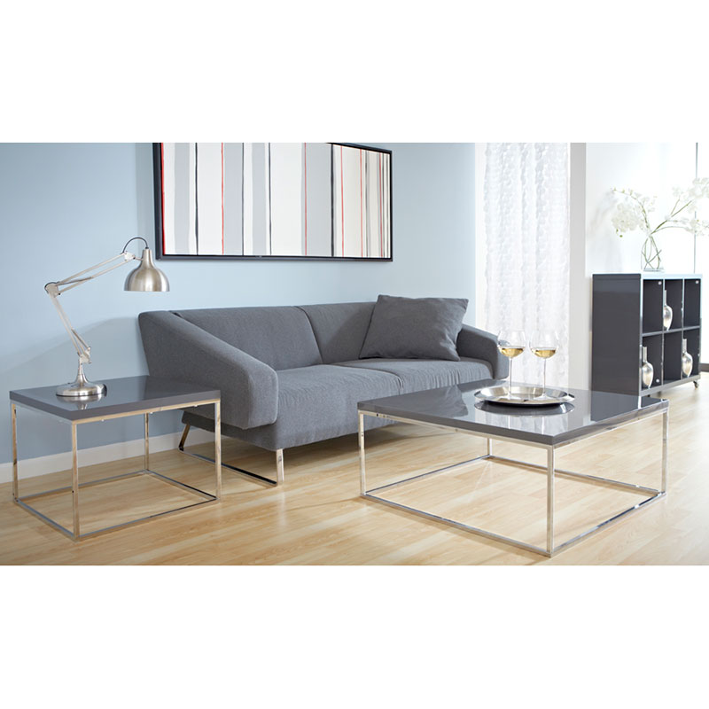 Ted Modern End Table in Gray