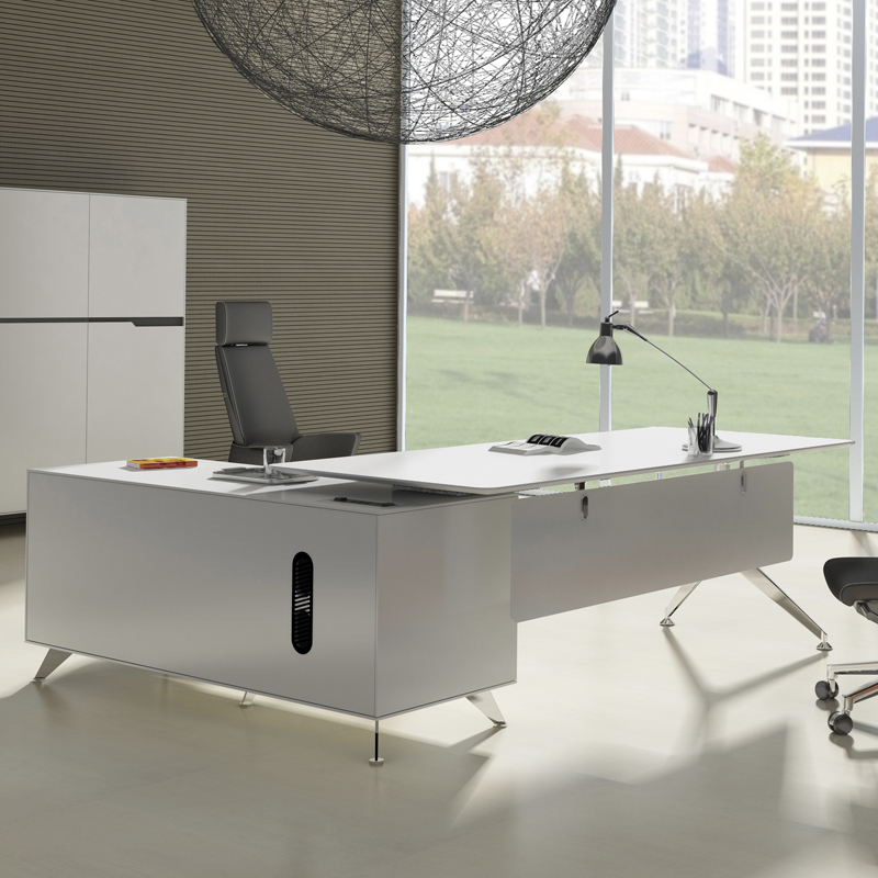 Trondheim Desk with Right Credenza - Room