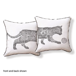 Typography Cat Pillow