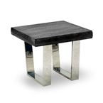 venice end table in black elm