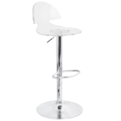 Victor Modern Acrylic Adjustable Stool