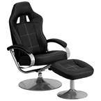 victory racing style recliner + ottoman