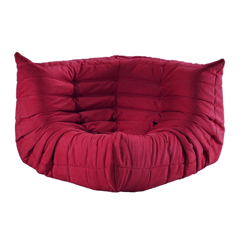 wave corner chair in red