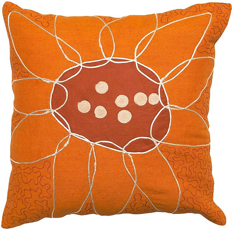 Whimsical Flower Pillow