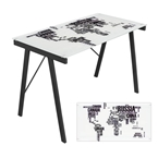 world map office desk