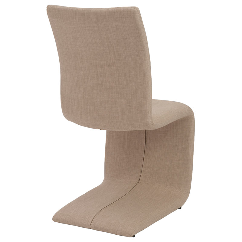Zeller Tan Contemporary Dining Chair - Back View