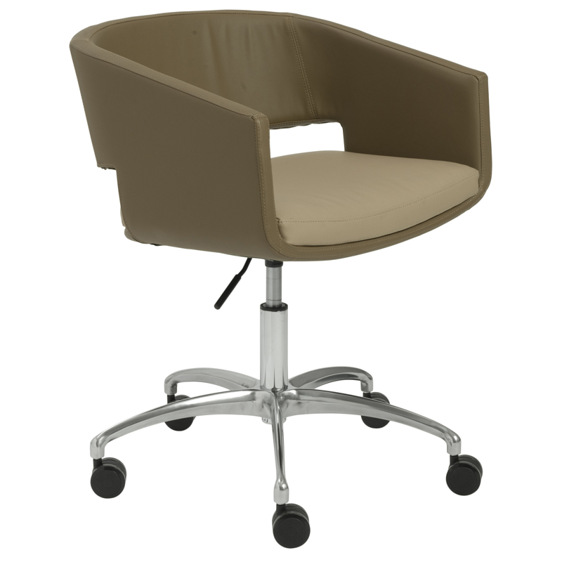 amy office chair in latte and mocha