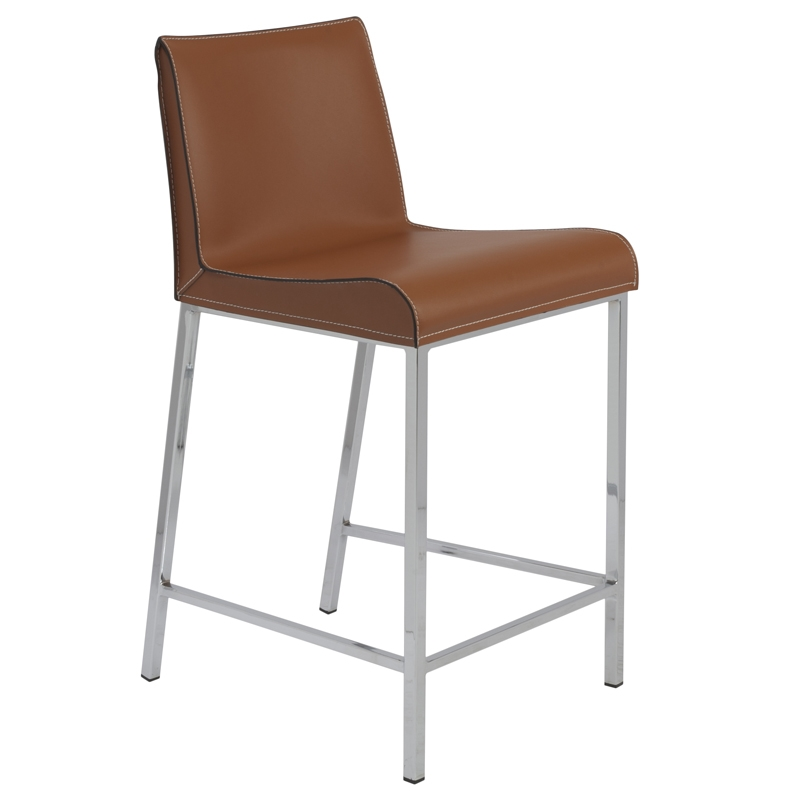 Candice Counter Stool in Cognac