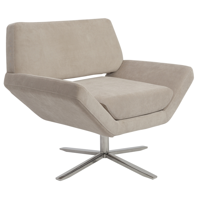 carl lounge chair - tan fabric