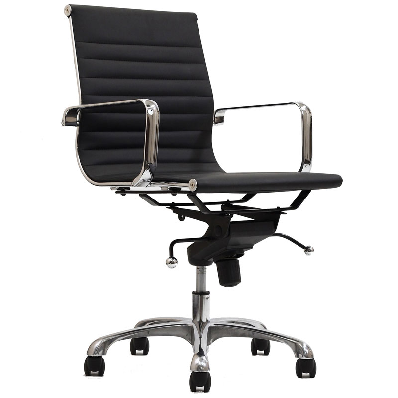 Classic Low Back Office Chair in Black