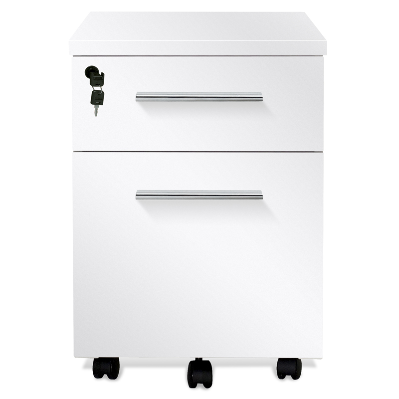 Copenhagen Mobile File Cabinet in White
