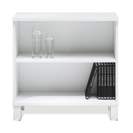 Copenhagen Low Bookcase in White