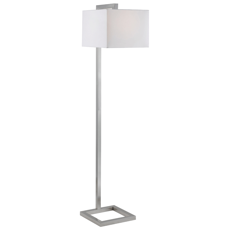 Falkirk Brushed Steel Modern Floor Lamp