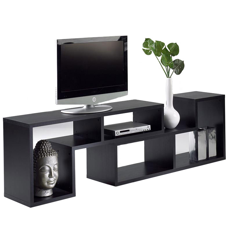 lexo bookcase set in black