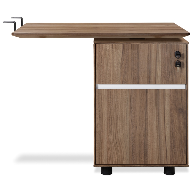 Gothenburg Return Desk + File in Walnut