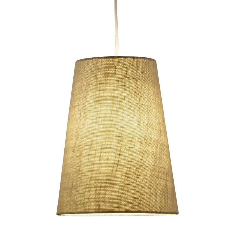 Hamburg Cone Pendant Lamp in Burlap