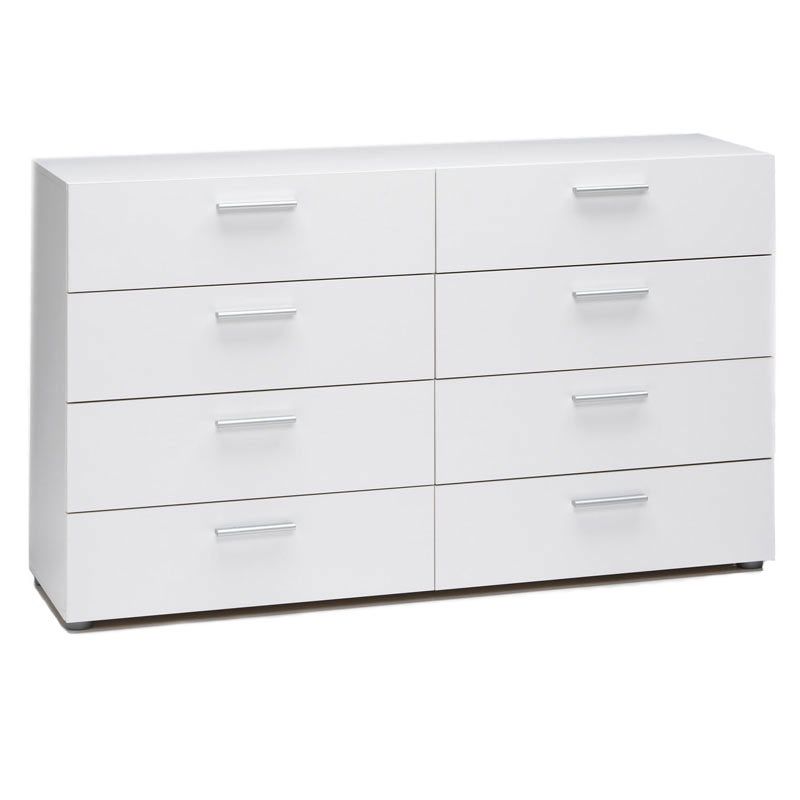 pescara double dresser in white