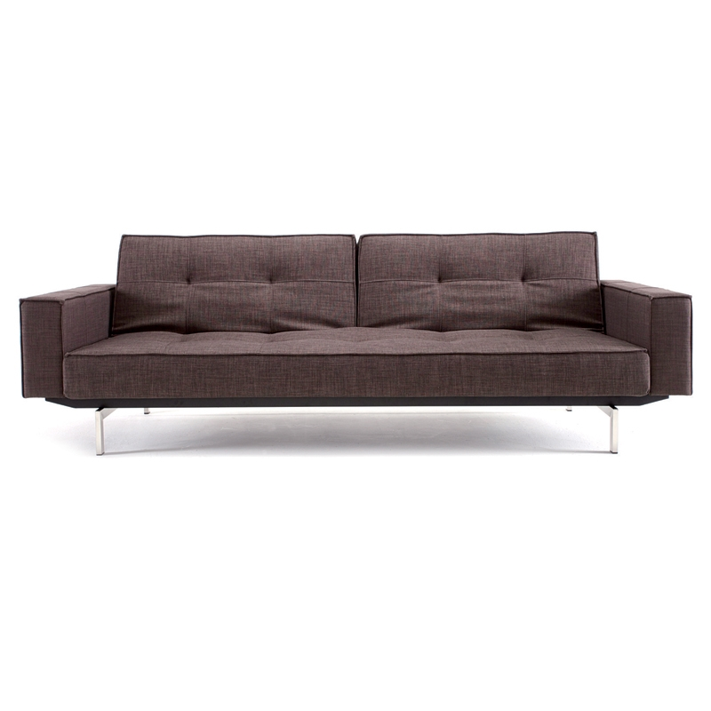 Splitback Modern Sofa Sleeper with Arms