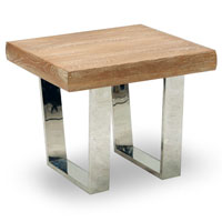 venice end table in natural finish