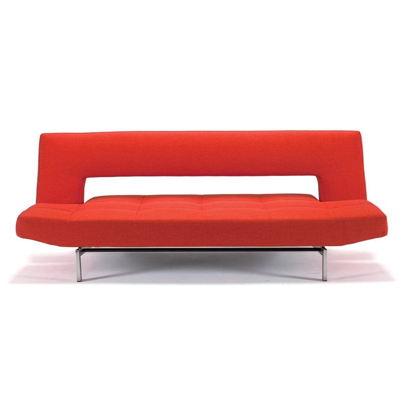 wing deluxe sofa sleeper in basic orange