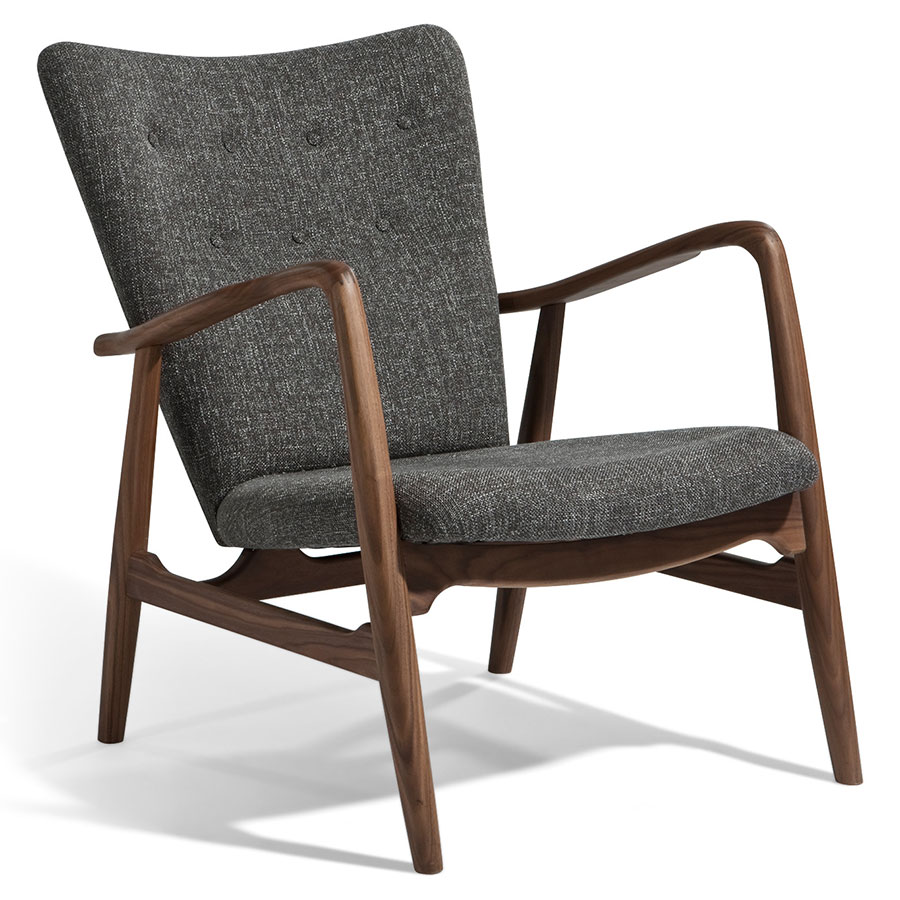 Adelle Gray Lounge Chair Eurway, Lounge Chairs With Wooden Arms
