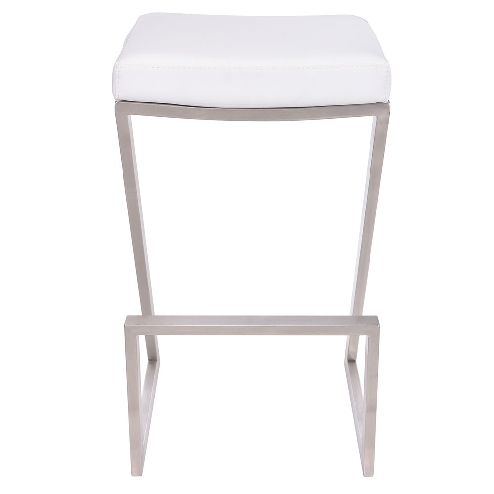 Strange Adrian Backless Bar Stool White Brushed Steel Andrewgaddart Wooden Chair Designs For Living Room Andrewgaddartcom