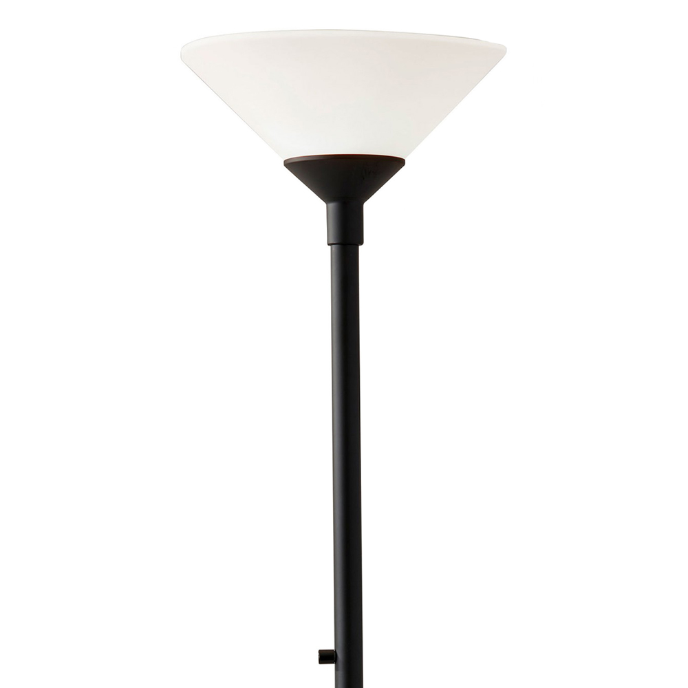 Agea Black Torchiere Lamp
