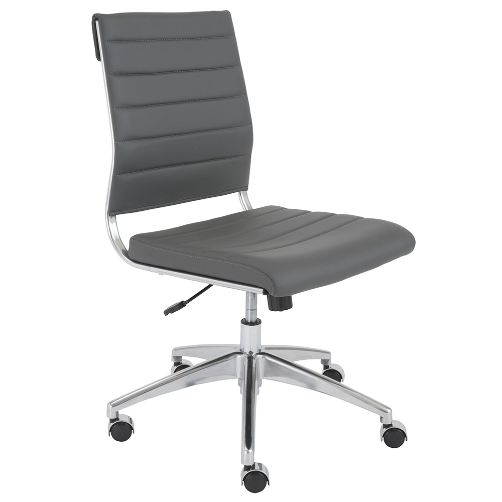 Axel Armless Low Back Office Chair Gray