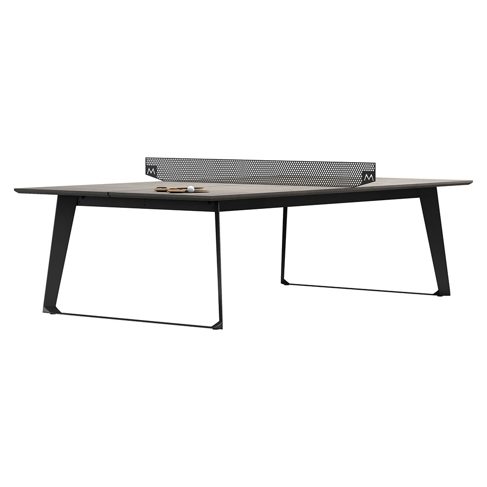Amsterdam Outdoor Ping Pong Table   Gray Concrete
