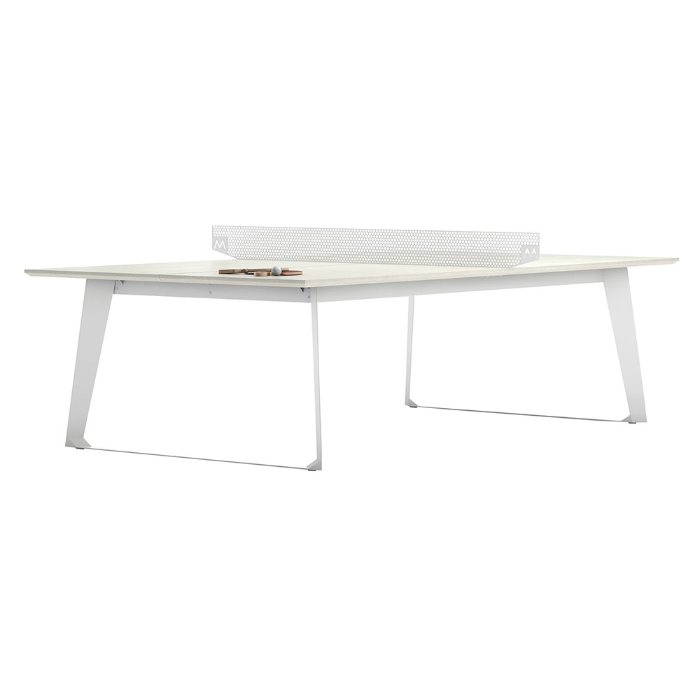 Amsterdam Outdoor Ping Pong Table   White Sand