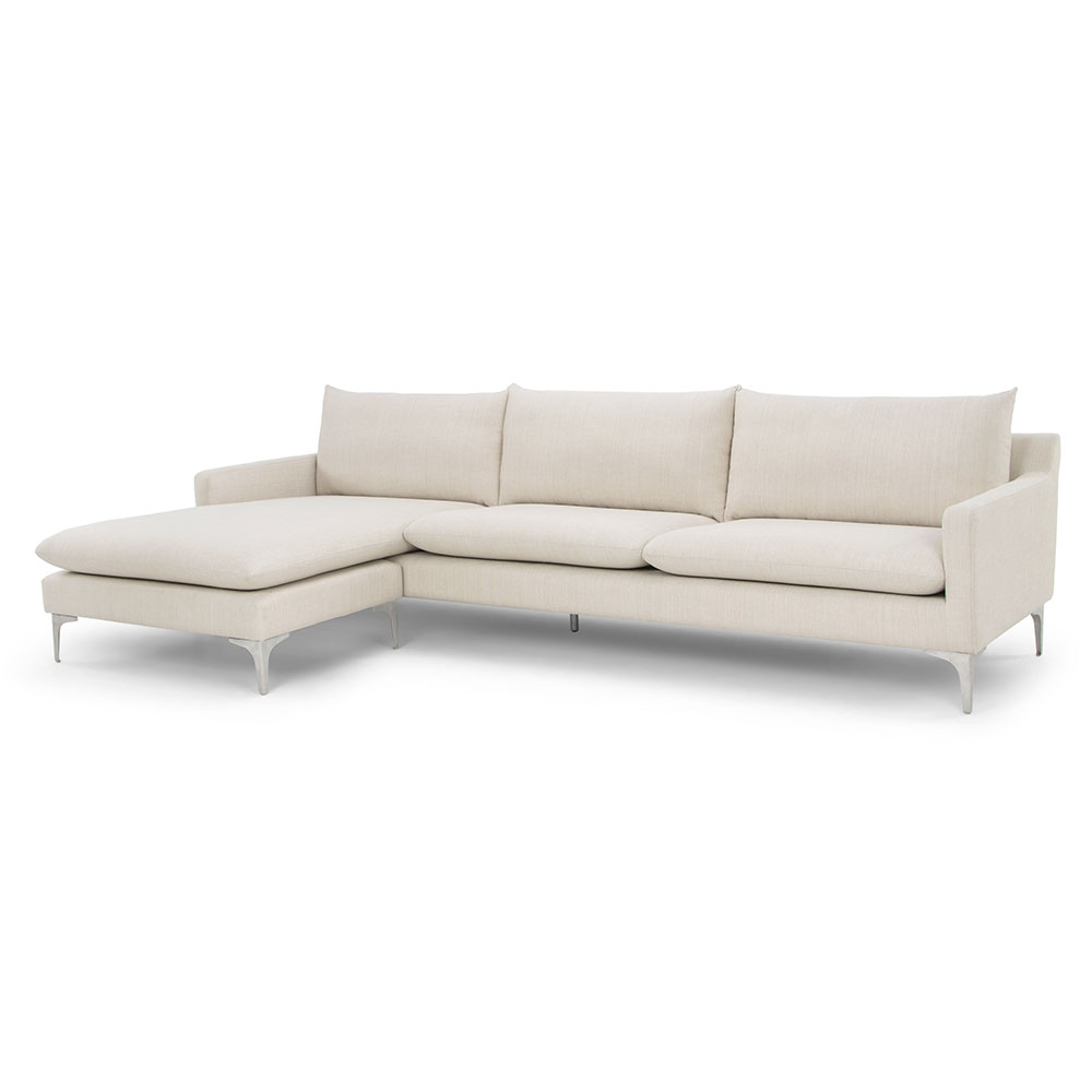 Anders Sand Modern Sectional Sofa by Nuevo | Eurway
