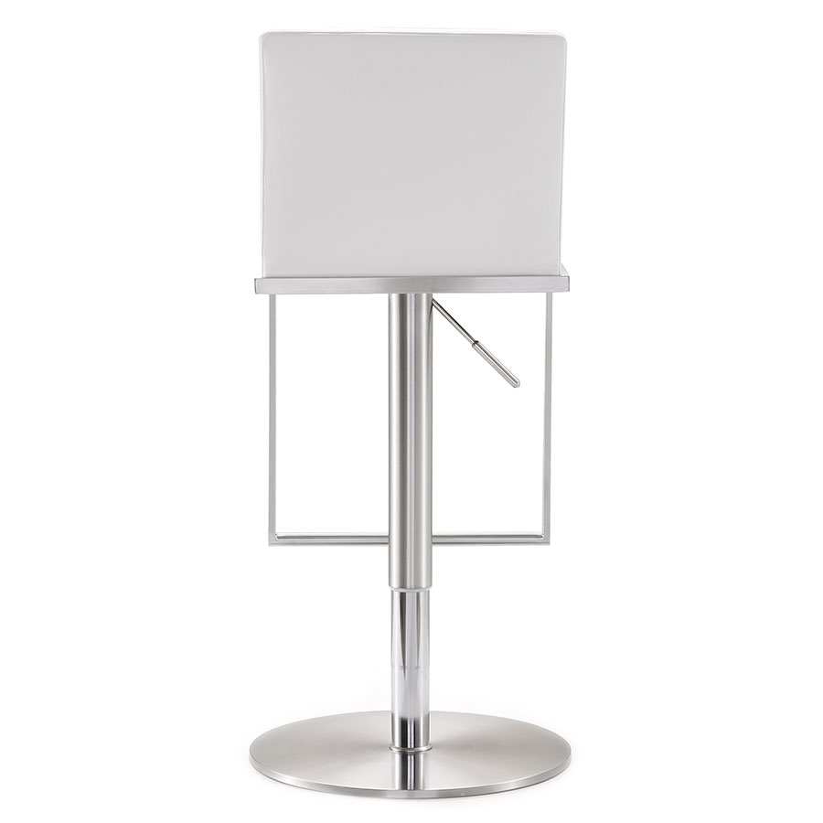 ... Ardennes Modern White Adjustable Stool   Back View ...