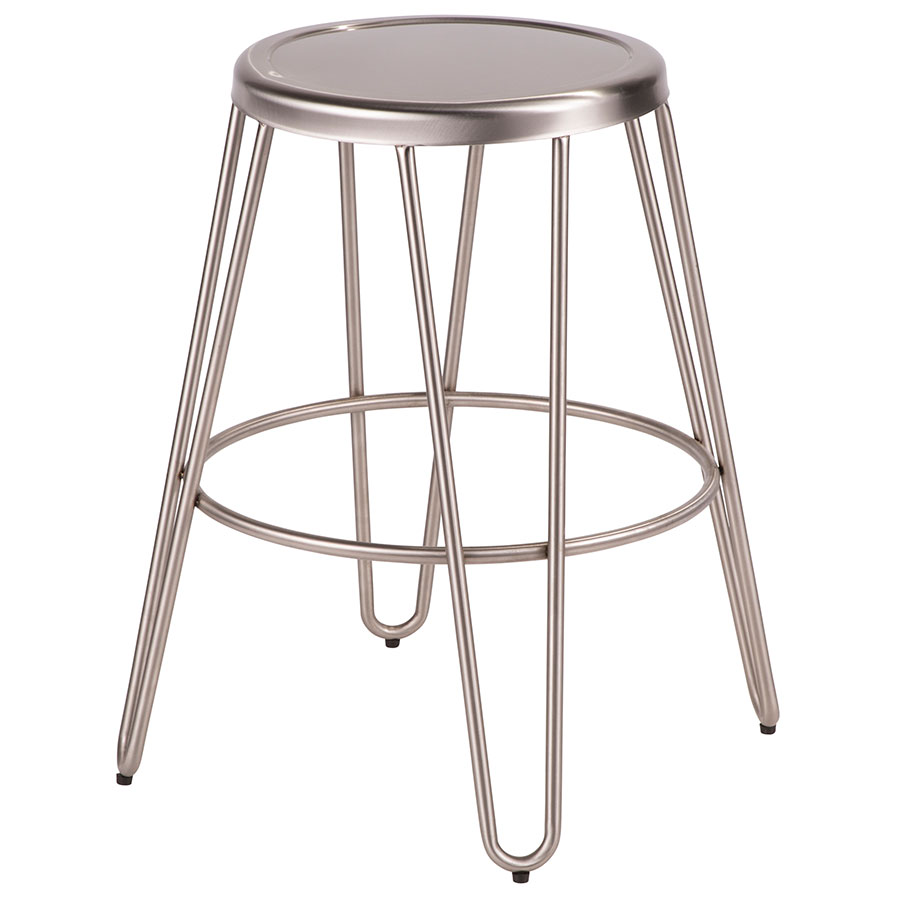 Surprising Avenue Hairpin Counter Stool Stainless Steel Set Of 2 Caraccident5 Cool Chair Designs And Ideas Caraccident5Info