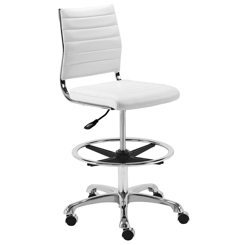 Sensational Axel Adjustable Drafting Stool White Inzonedesignstudio Interior Chair Design Inzonedesignstudiocom