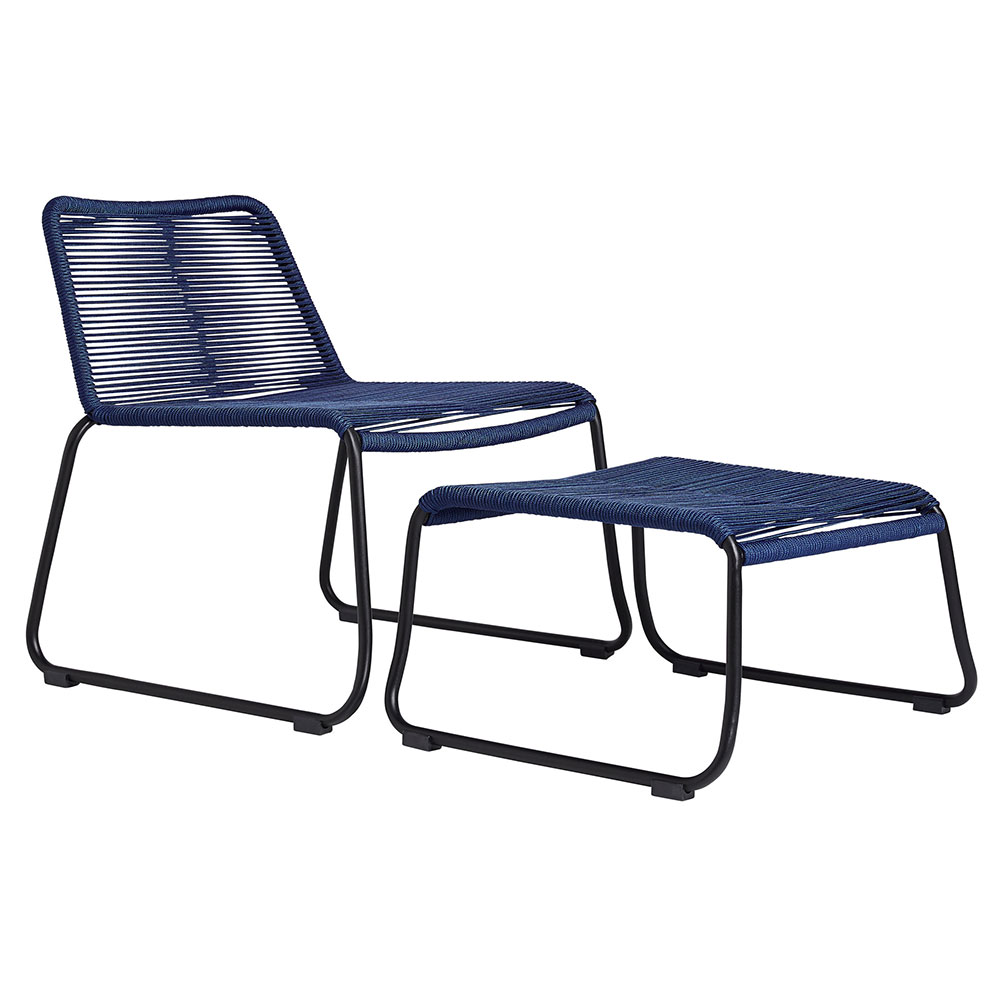 Magnificent Barclay Lounge Chair Ottoman Blue Dailytribune Chair Design For Home Dailytribuneorg