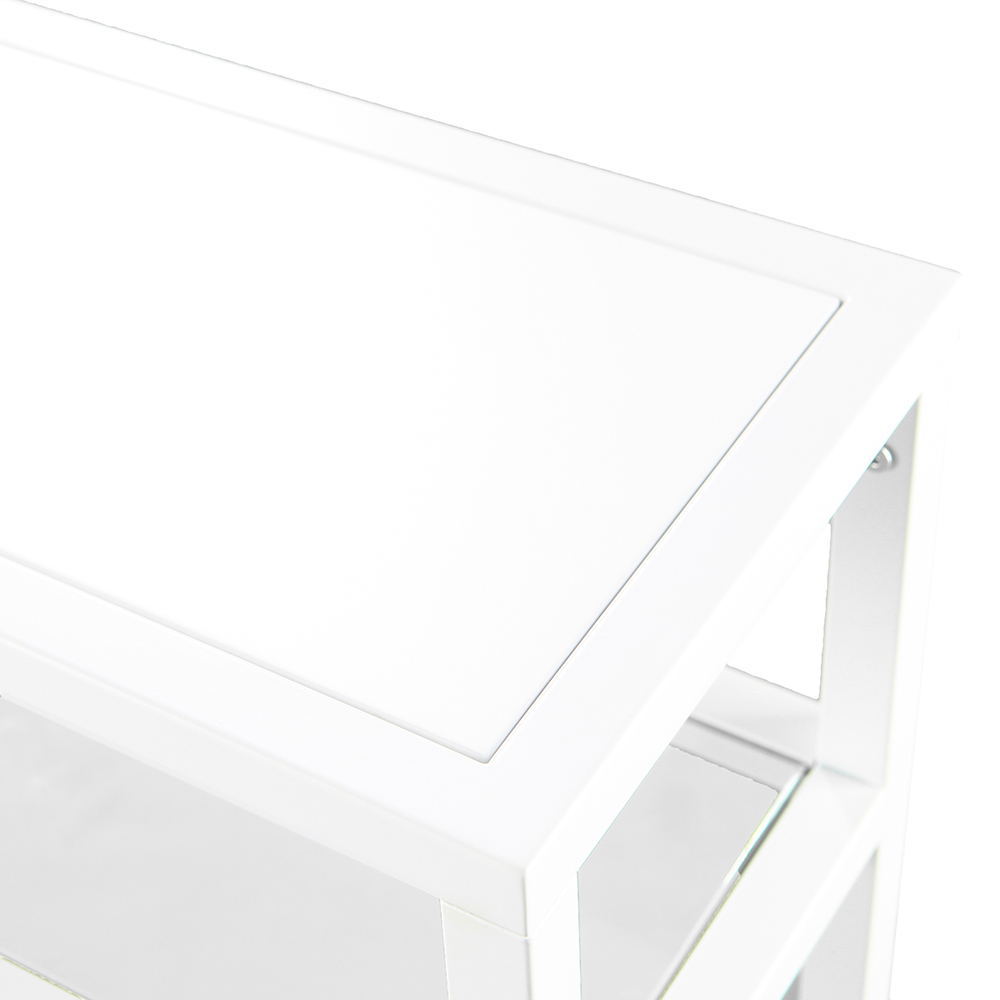 Contemporary white sofa tables White Marble Product Images Eurway Brandon Modern White Console Table Eurway Furniture