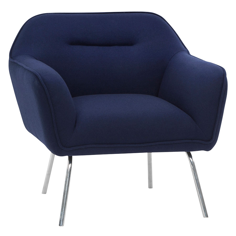 Marvelous Britta Lounge Chair Navy Blue Ocoug Best Dining Table And Chair Ideas Images Ocougorg