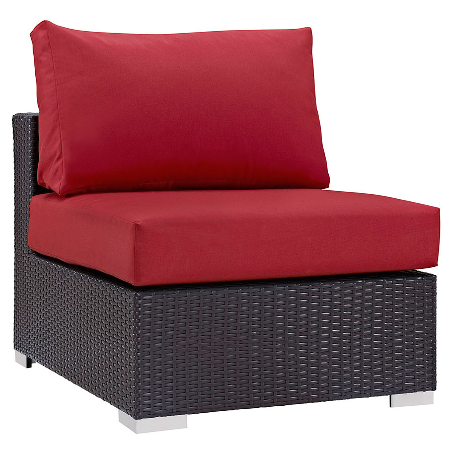 Delicieux Cabo Modern Outdoor Red Armless Chair | Eurway Modern