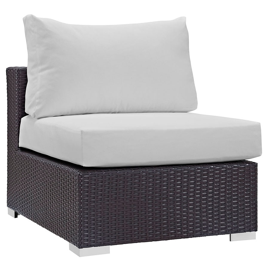 Cabo modern outdoor white armless chair eurway