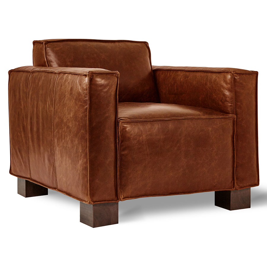 Marvelous Cabot Chair Saddle Brown Leather Pdpeps Interior Chair Design Pdpepsorg