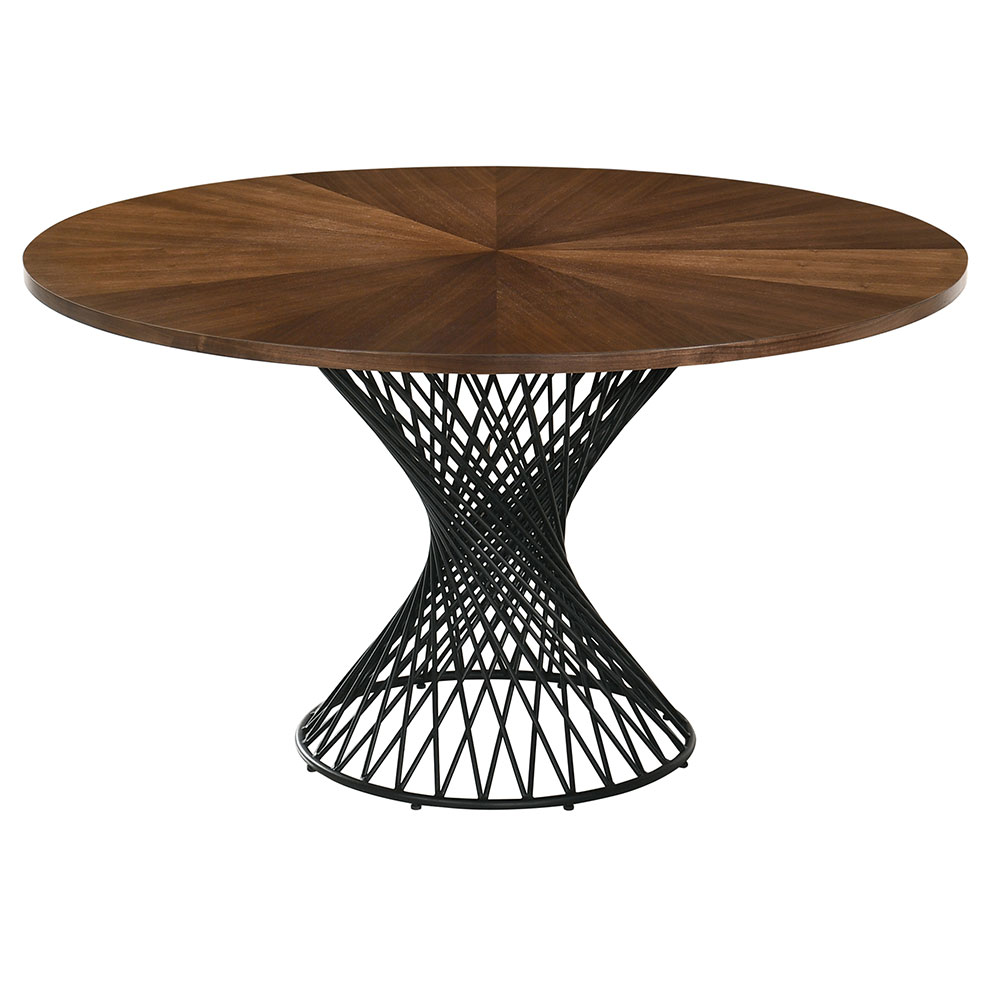 Cairns Modern 54 In Round Walnut Dining Table Eurway