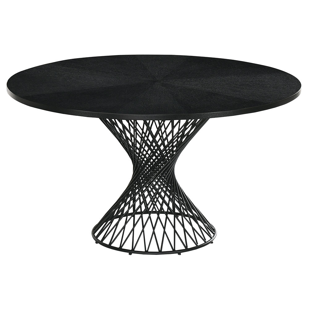 Cairns Modern 54 In Round Black Dining Table Eurway