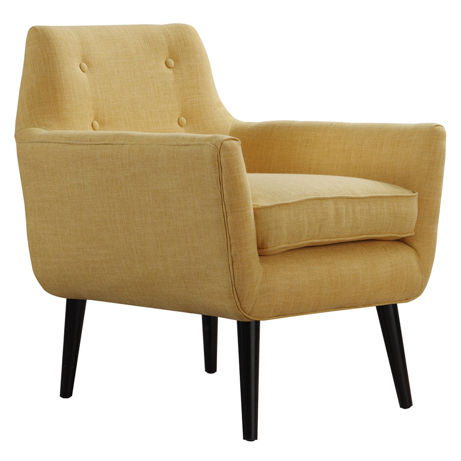 Modern Chairs Calypso Yellow Linen Chair Eurway