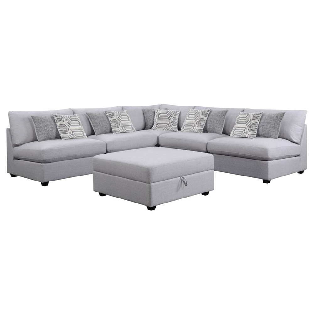 Magnificent Candice Sectional Sofa Ottoman Gmtry Best Dining Table And Chair Ideas Images Gmtryco