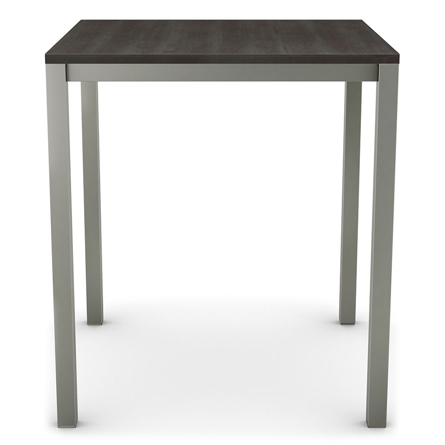 Amisco Carbon Wood Top Modern Bar Table