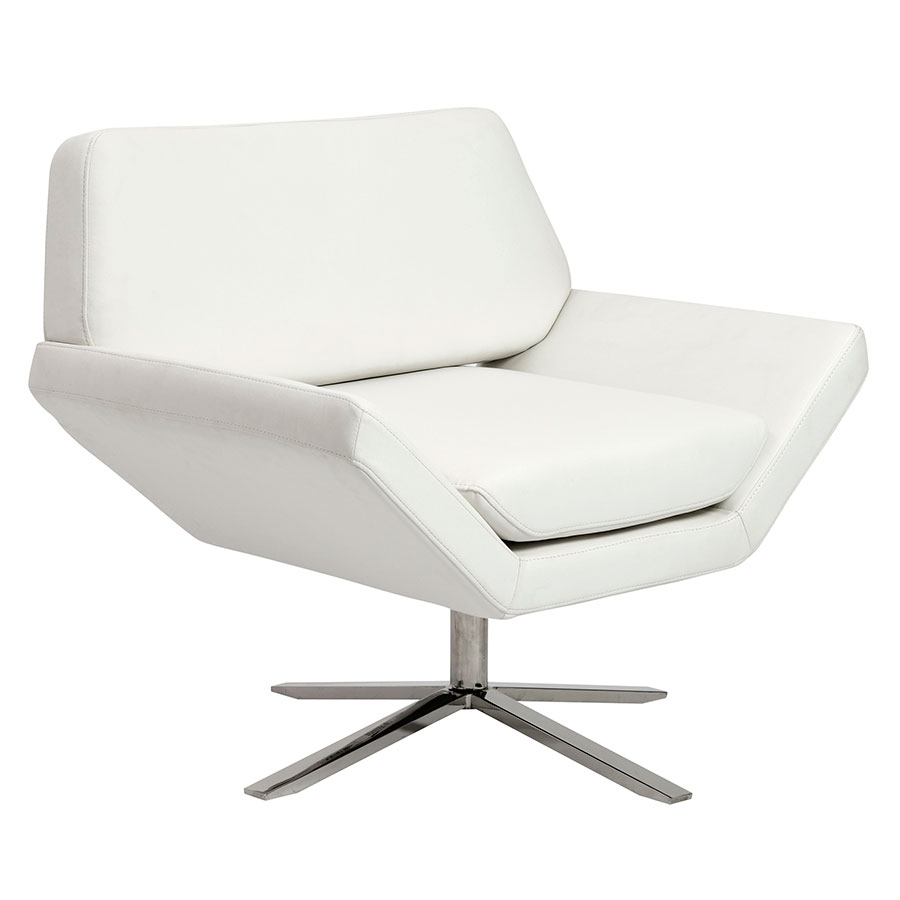 Carlotta white lounge chair by euro style eurway