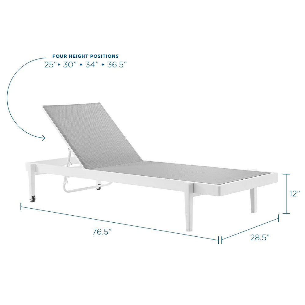 Modern Gray Outdoor Chaise Lounge