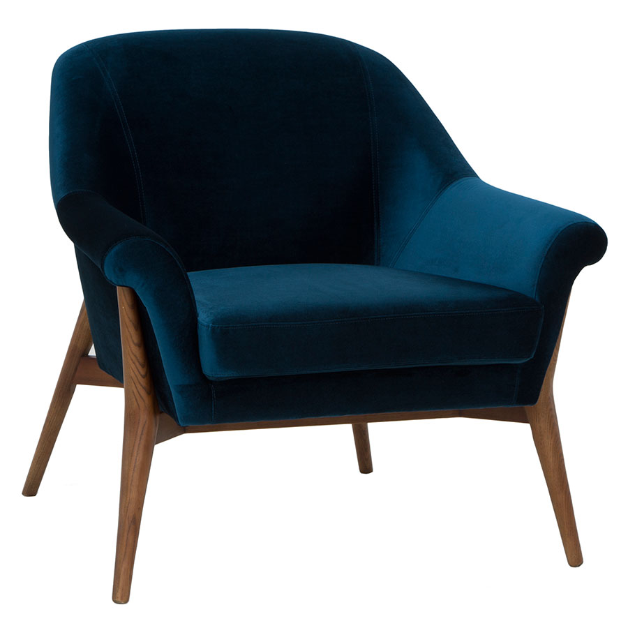 Astounding Charlize Lounge Chair Midnight Blue Spiritservingveterans Wood Chair Design Ideas Spiritservingveteransorg